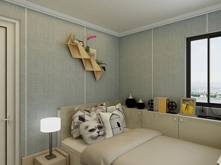 皮雕软包背景墙北欧风格案例