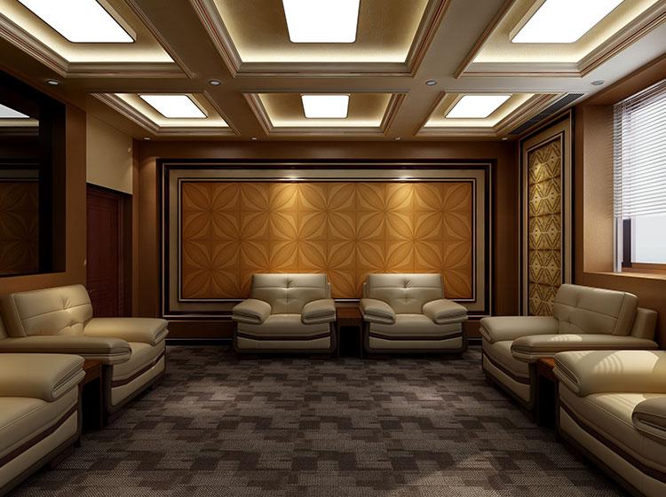 接待室皮墙整装案例