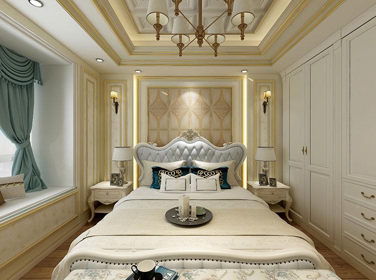 卧室床头背景欧式风格