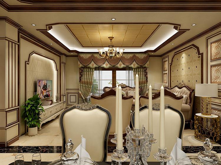 客厅欧式风格全屋整装