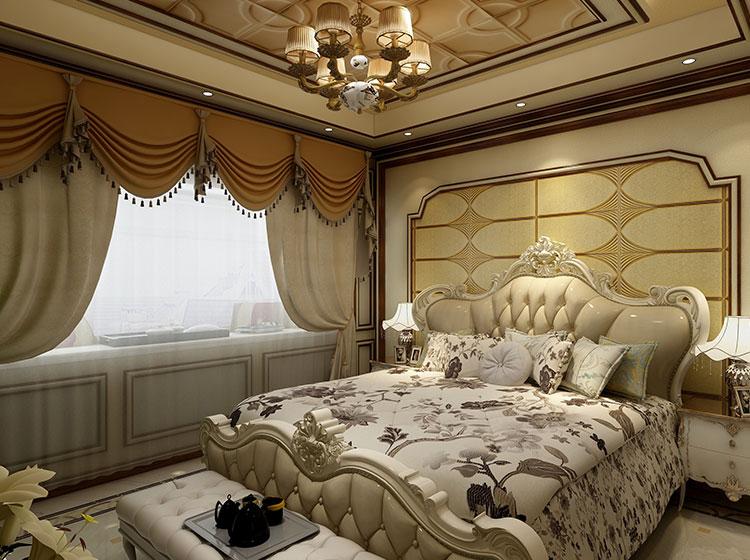 卧室欧式风格全屋皮墙整装