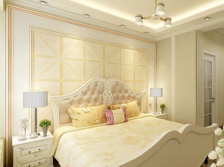 现代唯美卧室皮雕软包风格案例